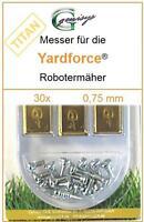 30 TITAN Ersatz - Messer Klingen 0,75mm für Yardforce SC 600 Eco SA 900 SA 600 H
