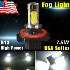 1x White H13 9008 7.5W COB Projector Lens LED bulb Fog DRL Driving Light