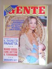 GENTE n°1/2 1977 Barbara Bouchet la piu bella mamma dell'anno  [G767]