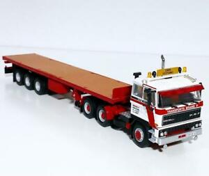 "DAF 3300 6x4 flatbed trailer ""Brame P"" WSI truck models 01-3367"