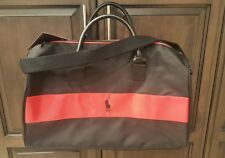 Polo Ralph Lauren Red Black Pony Gym Duffle Weekender Bag Travel BAG NEW