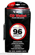 VIBE VA-96CD CD/DVD/GAMES/DATA Storage Wallet Case Double Sided 96 Discs New