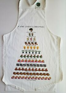Wine Lover's Apron 12 Days of Christmas By David Price 100% Cotton NEW