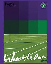 2014 Wimbledon Tennis Tournament  Ad Poster, 8x10 Color Photo