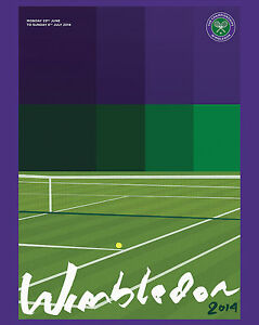 2014 Wimbledon Tennis Tournament  Ad Poster, 8x10 Color Photo