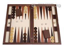 Dal Negro Wood Backgammon Set - Cambridge - Classic Wooden Board Game