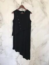 ASOS Womens Dress Size 8 Black Sleeveless Asymmetrical Hem Jersey Pull On