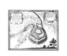 Antica mappa, ichonographia ARCIS munitissimae tinzchinensis