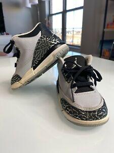 Air Jordan 3 Retro BT 832033-004 Wolf Grey US Toddler Size 7c