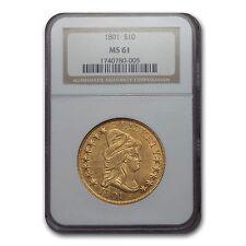 1801 $10 Turban Head Gold Eagle Ms-61 Ngc - Sku #132546