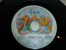 """QUEEN - Somebody To Love - 1976 UK 7"""" vinyl single"""