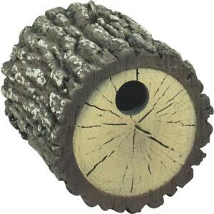 Heath 7 In Length x 6.25 In Diameter Gray Round Log Wren Bird House UV Resistant