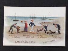Vintage PC: Comic Artist Signed: #A419: Cynicus: Seaside Sketches
