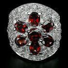 _LDN_Bague Grenat et Diamants CZ_Argent 925_Grenat_T56_Fermeture de la boutique