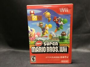 Super Mario Bros. Wii Video Game [Nintendo 2009] Complete with Manual + Inserts