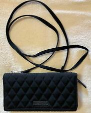 Vera Bradley Black Covertible Crossbody Wallet Bag Wristlet Small NWOT
