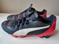 BOYS PUMA evoPOWER 4.2 FG FIRM GROUND SOCCER FOOTBALL BOOTS SHOES JUNIOR UK 2