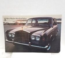 Vintage 1969 Rolls Royce Silver Shadow 4-door sedan car brochure