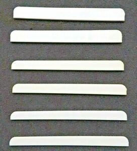 Stegeinlagen Kunststoff 81mm für Konzert Gitarren 6 Stück