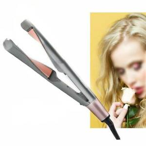 Negative Ions Hair Straightener And Curling Iron 2 in1 Hair Curler Tool Pro UK