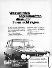 Alfa Romeo-Giulia-1972-Reklame-Werbung-genuine Advertising - nl-Versandhandel
