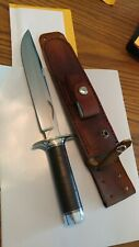 Steve Voorhis custom knife model 1 fighter stacked leather  mint w sheath stone