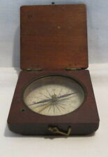 New ListingAntique Pocket Compass Wooden Case Working Antique Compass