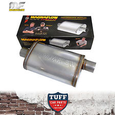 "Magnaflow Stainless Steel 2.25"" Muffler Oval Body 14"" X 8"" X 5"" Centre Offset"