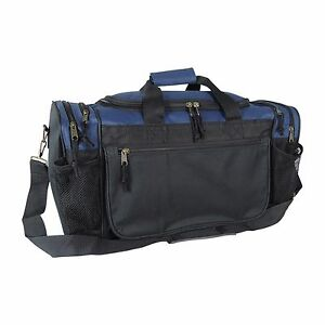 Brand New Duffle Bag Sports Duffel Bag in Navy Blue and Black Gym Bag