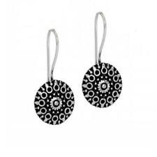 Handmade Traditional Oxidised Silver Tone Stud Earrings