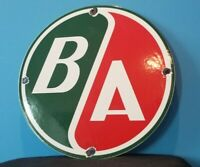 VINTAGE BRITISH AMERICAN PORCELAIN GAS AVIATION SERVICE STATION PUMP PLATE SIGN