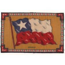 "Tobacco Flag Chili 1900's flannel-felt 8""x5.25"" cigar/cigarette premium ᵇ F1"