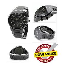NEW EMPORIO ARMANI AR1451 BLACK CERAMIC MATTE CHRONOGRAPH MEN'S WATCH UK