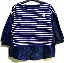 M navy striped top
