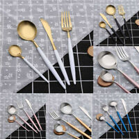 4 Pcs Sets Portugal Style Stainless Flatware Fork Spoon Cutlery Tableware Knives