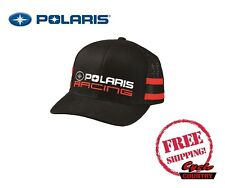 POLARIS RACING CLASSIC HAT TRUCKER CAP BASEBALL RZR RMK SPORTSMAN ACE BLACK RED