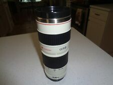 Large Canon 16oz.Travel Thermos Mug Camera Zoom Lens Cup Plastic