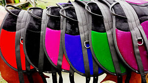Bare Back saddle pads double girth points fully mounted one size fits all