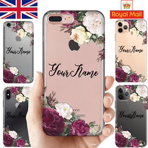 Personalised Your Name UK Silicone Phone Case iPhone 11 PRO 7/X Samsung Huawei