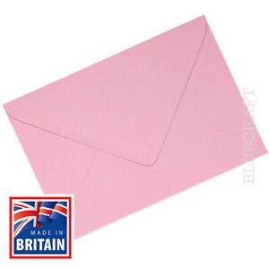 500 box x A6 C6 Pastel Pink Premium Quality 100gsm Envelopes  114 x 162 mm