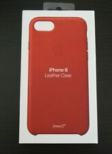 Apple Leather Case for iPhone SE 2020 , 8, 7- (PRODUCT) RED - Original MQHA2ZM/A