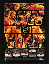 WWF RAW__Original 1994 print AD / game promo__SNES__Genesis__Game Boy__Game Gear