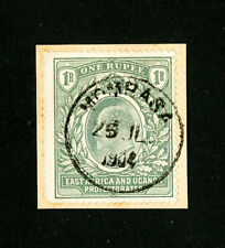 East Africa Stamps # 26 Superb On Piece Used Scott Value $67.50