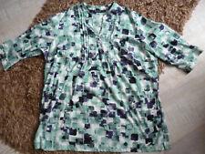Damen Bluse Gr. 54 * m.collection * grün/blau * TOP Zustand!