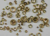 Clock bushes brass x100 assorted pivot bush mixed sizes movement spare parts new
