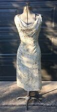 Max Mara Abstract Animal Print Drape Front Dress Sz4~Made In Italy Beauty