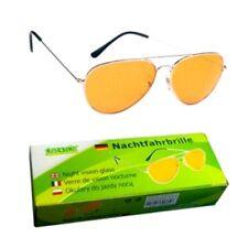 1 Nachtfahrbrille Autofahrerbrille Nachtsichtbrille gelb Night Vision Glass KFZ