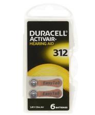 6x Duracell ActivAir Hörgerätebatterien Knopfzelle PR41 Typ 312