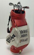 Original Michael Jordan Wilson Staff Professional Golf Tour Bag & Irons Vintage