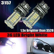 2X 400 Lumens 3157 7014 Chip 8000K White Backup Reverse LED Lights Bulbs